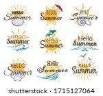hello summer logo. cute season... | Shutterstock .eps vector #1715127064