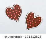 heart shaped cookies on white... | Shutterstock . vector #171512825