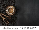 Coffee Cups And Coffee Beans...