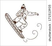 sportsman figure isolated on... | Shutterstock .eps vector #171513935