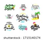 summer lettering set of labels  ... | Shutterstock .eps vector #1715140174