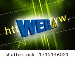 3d illustration web with... | Shutterstock . vector #1715146021