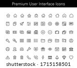 modern set of linear icons