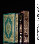 three holy al quran isolated...   Shutterstock . vector #1715178274