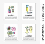 cards with doodle colored... | Shutterstock .eps vector #1715189017