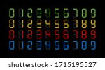 digits electronic dial set.... | Shutterstock .eps vector #1715195527
