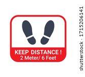 social distancing vector.... | Shutterstock .eps vector #1715206141