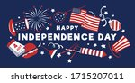 4th of july composition with... | Shutterstock .eps vector #1715207011