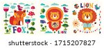 vector colorful collection of...   Shutterstock .eps vector #1715207827