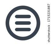 menu icon symbol vector circle. ...