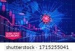 coronavirus pandemic and the... | Shutterstock .eps vector #1715255041