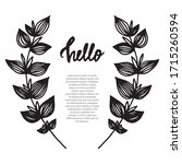 minimalistic decorative... | Shutterstock .eps vector #1715260594