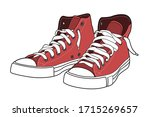 Red Sneakers Vector...
