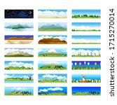 set of seamless landscape... | Shutterstock .eps vector #1715270014