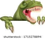 A Scary Dinosaur T Rex Cartoon...