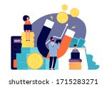 attracting investment. wealth... | Shutterstock .eps vector #1715283271