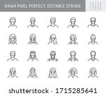people in mask avatar line... | Shutterstock .eps vector #1715285641