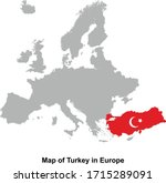 turkey map colored with flag... | Shutterstock .eps vector #1715289091