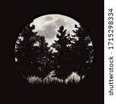 vector silhouette of forest...   Shutterstock .eps vector #1715298334