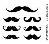 big collection with a mustache. ... | Shutterstock .eps vector #1715313511