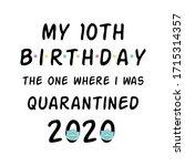 my birthday 2020 happy...   Shutterstock .eps vector #1715314357