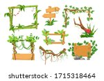 wooden sign boards with... | Shutterstock .eps vector #1715318464
