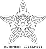 adult coloring book page a zen...   Shutterstock .eps vector #1715324911