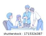 teamwork concept design of... | Shutterstock .eps vector #1715326387