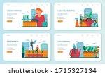 urban farming or gardening web... | Shutterstock .eps vector #1715327134