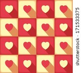 love pattern with many hearts... | Shutterstock .eps vector #171533375