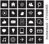 social network icons | Shutterstock .eps vector #171533405