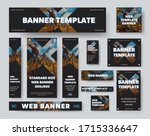 black web banner template with... | Shutterstock .eps vector #1715336647