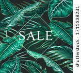 summer sale banner  poster with ... | Shutterstock .eps vector #1715338231