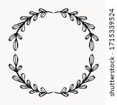 laurel leaf border for graphic...   Shutterstock .eps vector #1715339524