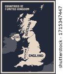 map united kingdom. poster map... | Shutterstock .eps vector #1715347447