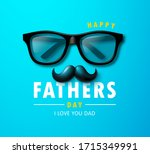 happy father's day banner with... | Shutterstock .eps vector #1715349991