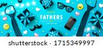 happy father's day banner with... | Shutterstock .eps vector #1715349997