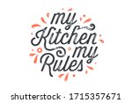 kitchen poster. kitchen wall... | Shutterstock .eps vector #1715357671