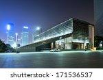 night scene of modern building | Shutterstock . vector #171536537