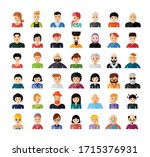 set of people avatar flat... | Shutterstock .eps vector #1715376931