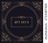 art deco frame border. vintage...   Shutterstock .eps vector #1715387404