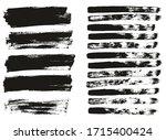 flat paint brush thin lines  ... | Shutterstock .eps vector #1715400424