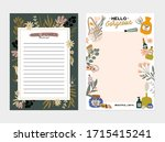 collection of weekly or daily... | Shutterstock .eps vector #1715415241