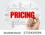 pricing word cloud collage ... | Shutterstock . vector #1715419294