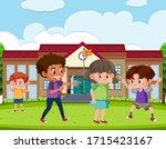 scene with kid bullying their...   Shutterstock .eps vector #1715423167