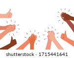 applause and like group of...   Shutterstock .eps vector #1715441641