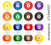colored pool balls. numbers 1... | Shutterstock .eps vector #171544337