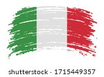 italian flag in grunge brush... | Shutterstock .eps vector #1715449357