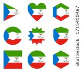 set of nine flags equatorial... | Shutterstock .eps vector #1715450467