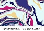 mixture of acrylic paints.... | Shutterstock . vector #1715456254